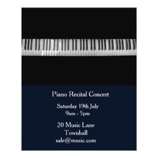 Représentation de musique de considérant de piano prospectus 11,4 cm x 14,2 cm