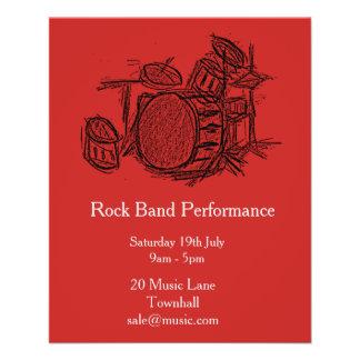 Représentation de musique de groupe de rock prospectus 11,4 cm x 14,2 cm