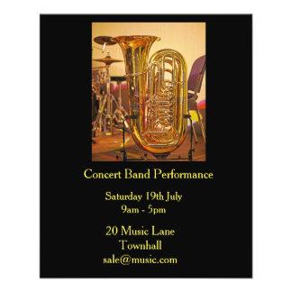 Représentation en laiton de groupe de musique de prospectus 11,4 cm x 14,2 cm