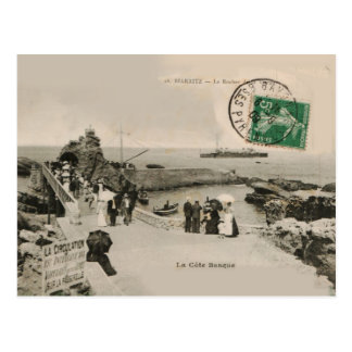 Reproduction 1909 de Rocher de La de BIARRITZ de Carte Postale