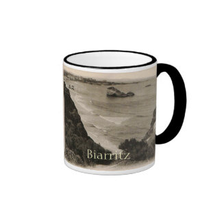 Reproduction 1910 de la France de bord de la mer Mug Ringer