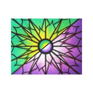 Reproduction sur toile de l'œuvre Violet & Vert