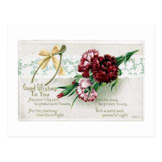 Reproduction vintage de carte postale du jour de