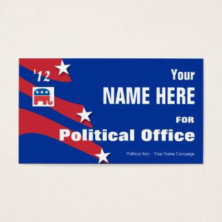 Républicain - campagne électorale politique cartes de visite