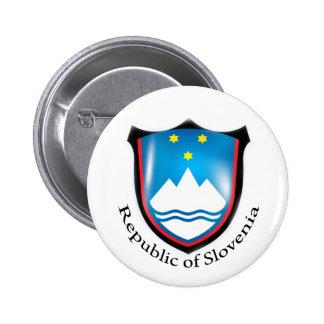 République de bouton de la Slovénie Badge Rond 5 Cm