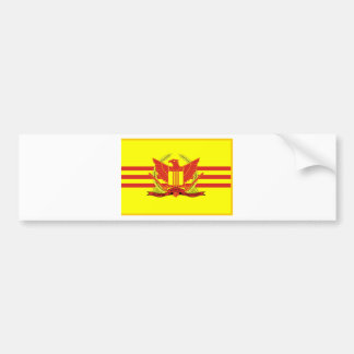 République de drapeau de forces militaires du autocollant de voiture
