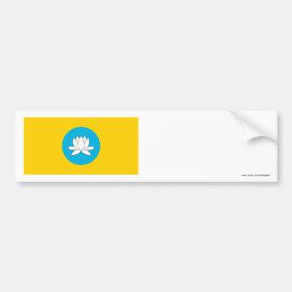 République de drapeau de la Kalmoukie Autocollant De Voiture