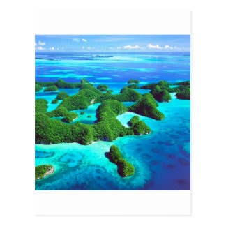 République tropicale Palaos d'île Carte Postale