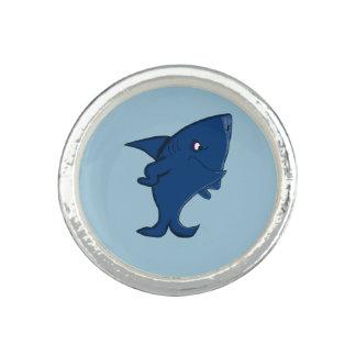 Requin bleu bague