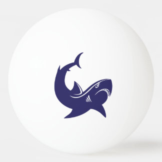 Requin bleu balle tennis de table