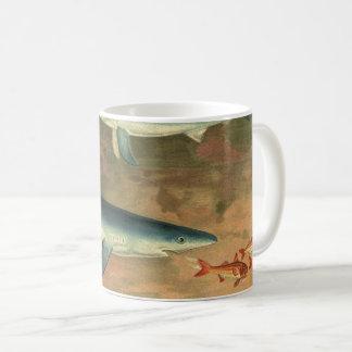 Requin bleu de la vie aquatique marine vintage mug