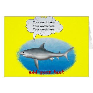 Requin de chant carte de vœux