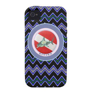 requin de drapeau de plongée coque iPhone 4 de Case-Mate