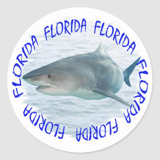 Requin de la Floride Sticker Rond