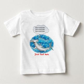 Requin de poisson-marteau parlant t-shirt pour bébé