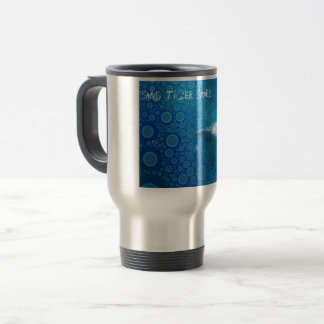 Requin de tigre de sable d'art de bruit mug de voyage