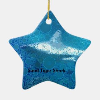 Requin de tigre de sable d'art de bruit ornement étoile en céramique