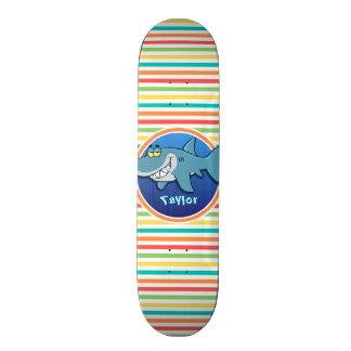 Requin Rayures lumineuses d arc-en-ciel Skateboards Personnalisés