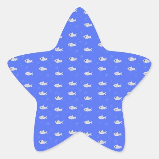 Requins mignons autocollant en étoile