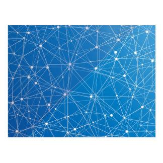 Réseau numérique bleu carte postale