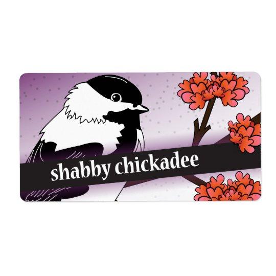 Réservé au vendeur minable d'Etsy de Chickadee Étiquette D'expédition