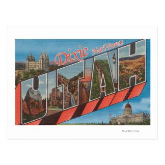 Réserve forestière de Dixie, Utah - grande lettre Carte Postale