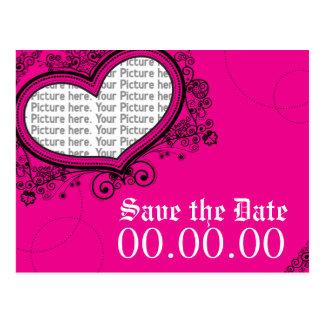 Réservez la date carte postale