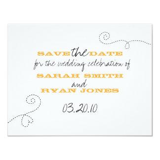 Réservez la date carton d'invitation 10,79 cm x 13,97 cm