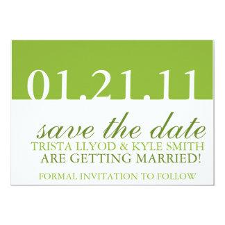 Réservez la date carton d'invitation  12,7 cm x 17,78 cm