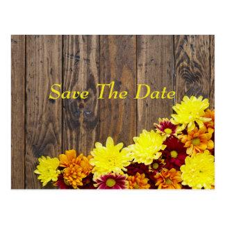 Réservez la date--Mariage d'automne Cartes Postales