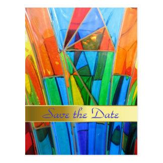 Réservez la date--Verre de Murano Cartes Postales