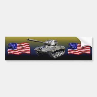 Réservoir avec des drapeaux des États-Unis - Autocollant Pour Voiture