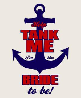 Réservoir d'aide je je suis la jeune mariée à être t-shirt