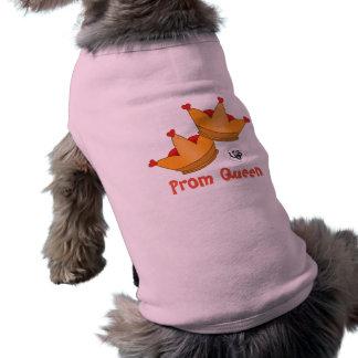 Réservoir d'animal familier de conception de reine t-shirt pour chien