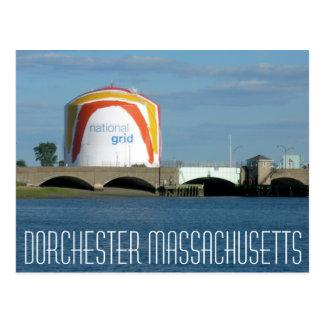 Réservoir de gaz de Dorchester le Massachusetts Cartes Postales
