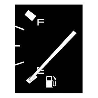 Réservoir de gaz vide carte postale