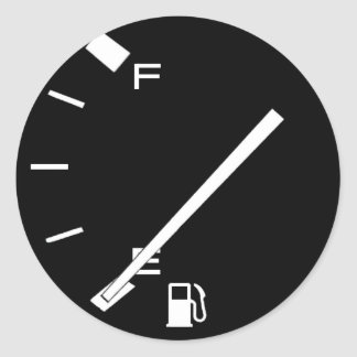 Réservoir de gaz vide sticker rond