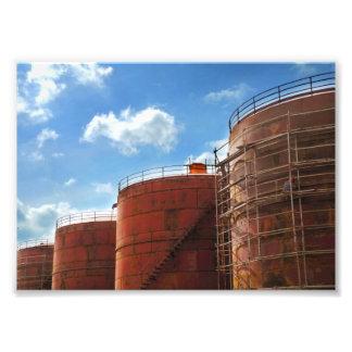 réservoir de stockage de pétrole photo d'art