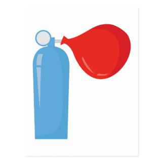 Réservoir d'hélium cartes postales