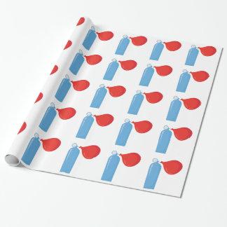 Réservoir d'hélium papier cadeau
