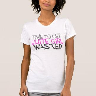 Réservoir gaspillé par fille blanche t-shirt