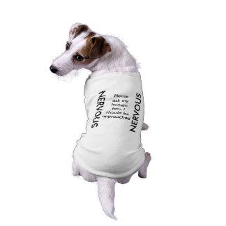 Réservoir NERVEUX de chien T-shirt Pour Chien