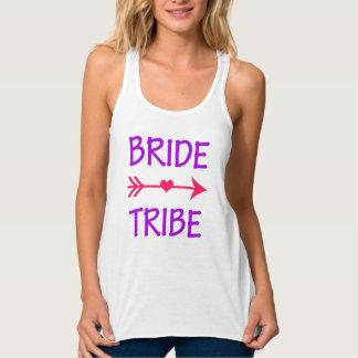 Réservoir rose et pourpre de tribu de jeune mariée débardeur ample dos nageur