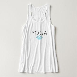 Réservoir simple bleu de Lotus de yoga Débardeur