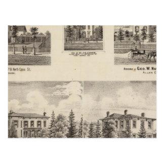 Résidence de Baker et de d'autres de Henry Carte Postale