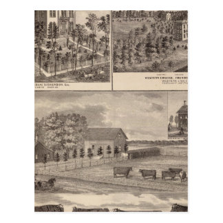 Résidence et université occidentale dans carte postale