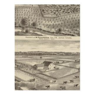 Résidences de JW Richardson et de JD McGlothlen Carte Postale