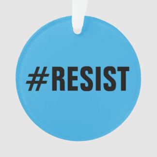#Resist, caractères gras sur lumineux et