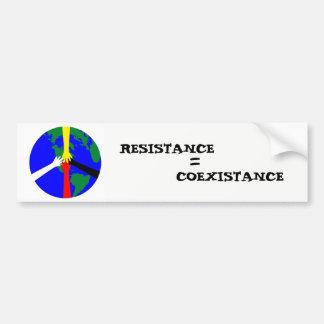 Résistance = Coexistance Autocollant De Voiture