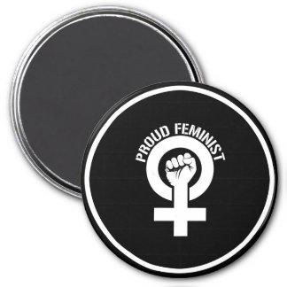 Résistance féministe - féministe fier --  blanc - aimant
